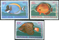 Indonesia - Fish - Mint set 3v