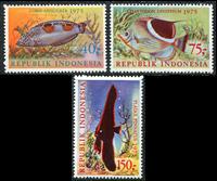 Indonesia - Fish - Mint set 3v