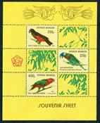 Indonesia - Parrots - Mint souvenir sheet