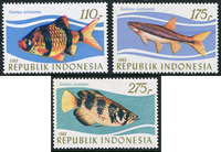 Indonesia - Tropical fish - Mint set 3v