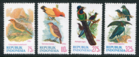Indonesia - Birds - Mint set 4v