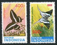 Indonesia - Vlinders '88 (Zb 1357/58) Postfrisse serie van 2