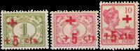 Indes néerlandaises - Croix Rouge 1915 - Nos 135-137 - Neuf