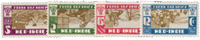 Nederland Indie - Leger des Heilszegels 1932 (nr. 176-179, ongebruik - Postfrisk