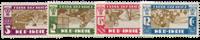Nederland Indie - Leger des Heilszegels 1932 (nr. 176-179, ongebruik