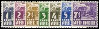 Nederland Indie - Karbouw 1938-39 (nr. 246-252, ongebruikt)