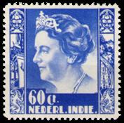 Nederland Indie - 60 ct ultramarijn uit Wilhelminaserie 1938 (nr. 26