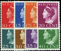 Nederland Indie - Koningin Wilhelmina Konijnenburg  1941 (nr. 274-81,