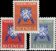 Nederland Indie - Vrij Nederlandzegels 1941 (nr. 290-292, ongebruikt