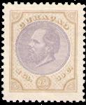 Curacao - 2 1/2 gld olijfgeel en lila Willem III 1889 (nr 12