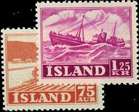 Iceland 1952 - AFA no.276-77 - Mint