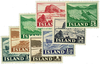 Iceland 1950 - AFA no. 264-71 mint