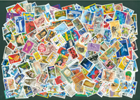 France - 1500 timbres oblitérés - Paquets de timbres