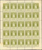 Greenland parcel post complete sheet AFA no. 1
