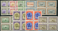 Greenland American issue, mint set blocs of 4
