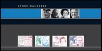 Danimarca 2008 - Illustri danesi - serie 4 val. nuovi