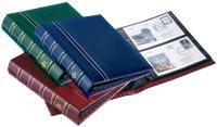 FDC Album OPTIMA, design classique, 20 Pochettes incluses, rouge