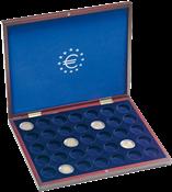 Coffret Numismatique VOLTERRA UNO de luxe, pour 35  pièces jusqu'à 26 mm Ø e