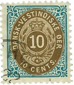 Dansk Vestindien 1896-06 - AFA nr.11B - Stemplet