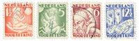 Holland - Kinderzegels 1930 - NVPH 232-235 - Stemp