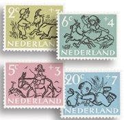 Holland - Kinderzegels 1952 - NVPH 596-600 - Stemp