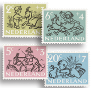 Holland - Kinderzegels 1952 - NVPH 596-600 - Stemp