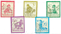 Holland 1950 - NVPH 563-567 - Stemplet