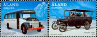 Åland - Busser - Postfrisk sæt 2v
