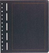 Blankoblade sort - Med gylden rammelinie- 12 blad e