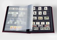 Classeur Leuchtturm BASIC - Rouge - A4 - 64 pages noires - couverture non ouatinée
