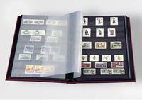 Insteekboek - Rood - A4 - 64 zwarte bladzijden - ongewatteerde band