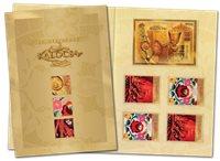 Hongrie - Journée du timbre - Avec broderie et paprika - Pochette avec timbres spéciaux