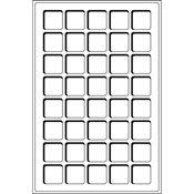 Bandeja L para 40 monedas de 3 33 mm Ø, azul