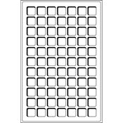 coin trays L for 77 coins up to 22 mm Ø, red