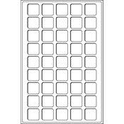 Bandeja L para 45 monedas de 3 31 mm Ø, azul