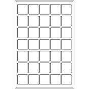 Møntindsats til kuffert - Rød - 35 inddelinger