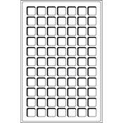 Møntindsats til kuffert - Blå - 77 inddelinger