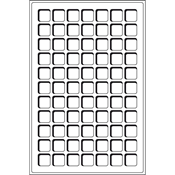 Plateaux L pour 77 pièces de monnaie jusqu'à 22 mm  Ø, bleu