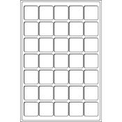 Bandeja L para 35 monedas de 3 35 mm Ø, azul