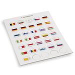 Jeton de drapeaux appropriés pour 2-Euro Capsules 26