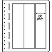 LEUCHTTURM hoja en blanco-LB, 3 divisiónes, vertical, p. 1