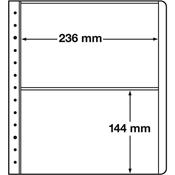 LEUCHTTURM feuille neutres LB, 2 compartiments, dim. int. 2 236 x 144 mm, p