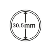 capsules pour pièces de monnaie diamètre intérieur  30,5 mm