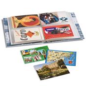 Album pour 200 cartes postales incl. 50 feuilles pour 4 cartes postales par