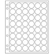 feuilles en plastique ENCAP pour 48 capsules av.un  diamètre de l'int´rieur