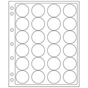 feuilles en plastique ENCAP pour 24 capsules av.un  diamètre de l'int´rieur