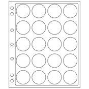 Kunststoffhüllen ENCAP, für 20 Münzen mit einem InnenØ von 38 bis 40 mm