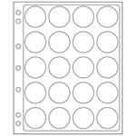 feuilles en plastique ENCAP pour 20 capsules av.un  diamètre de l'int´rieur