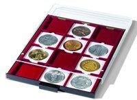 Bandeja para monedas 12 divisiones esquinadas 67 x   67 mm, color humo