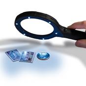 NEMO 2x illuminated magnifier with 6 LED's, black